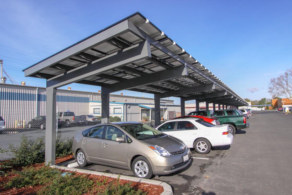 Solar Carports  Commercial Solar Car Ports  Baja Carports