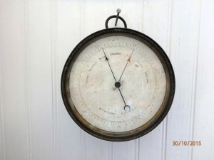 Salvaged SV Countess of Ripon ship's barometer
