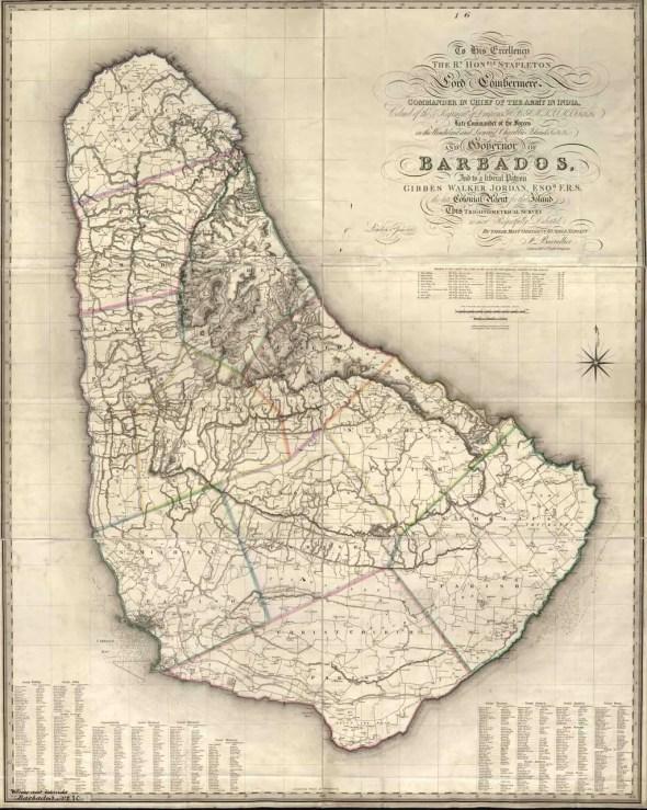 (No. 52) BALLALIER (F. DE) 1825 - Trigonometrical Survey of BarbadosUCL - Legacies of British Slave-ownershipThe National Archives - Kew