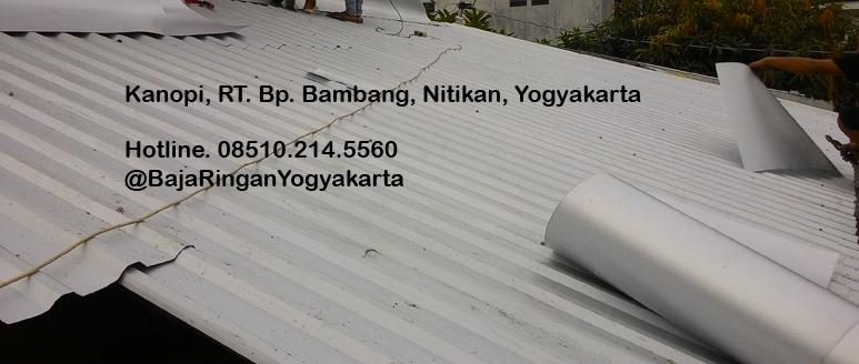 kanopi baja ringan yogyakarta proyek rumah tinggal di nitikan