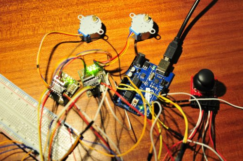 small resolution of joystick and stepper motors
