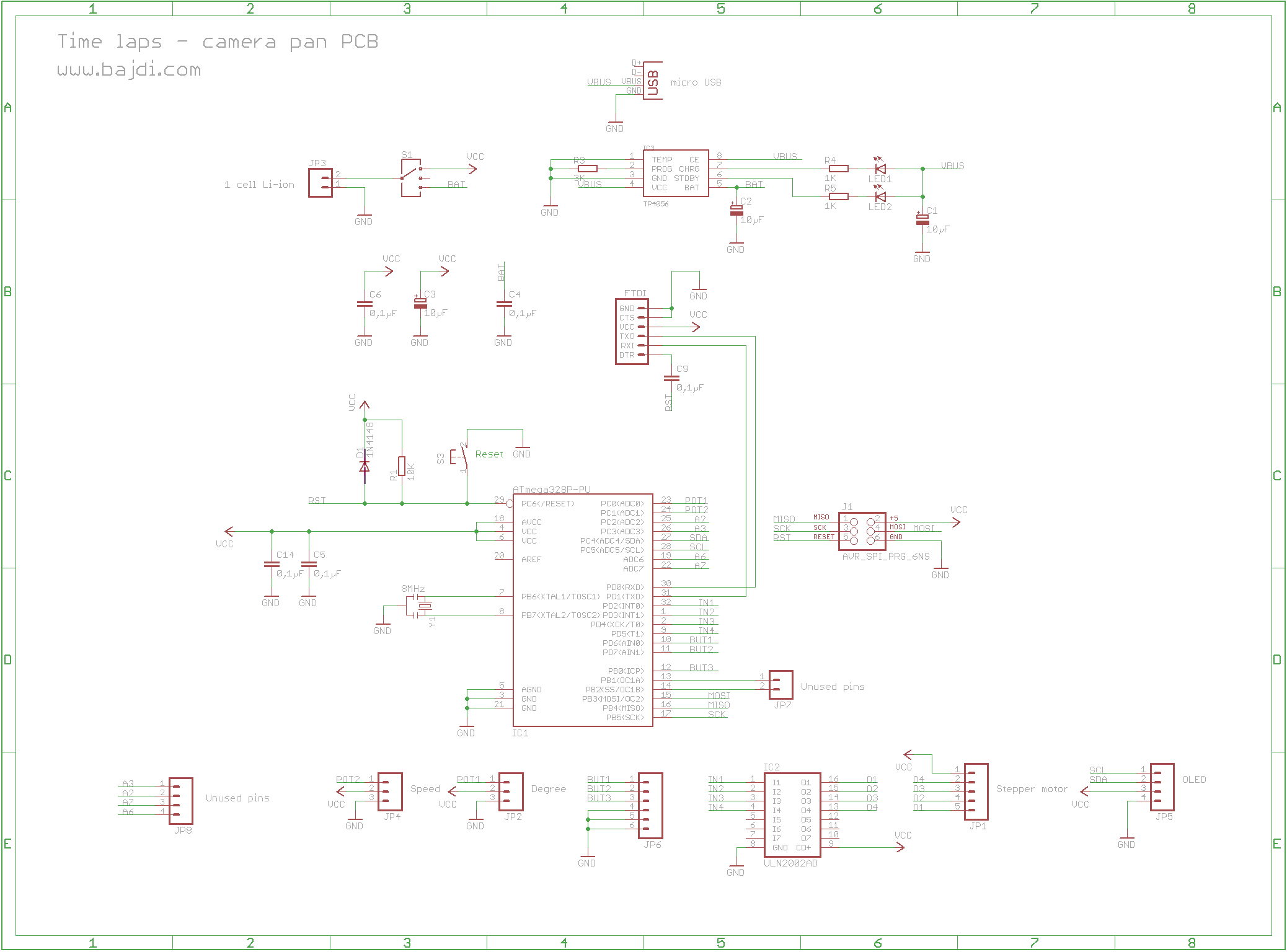 Time Lapse Pan Camera Pcb Schematic