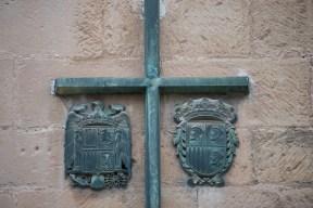 Escudo preconstitucional en las placas