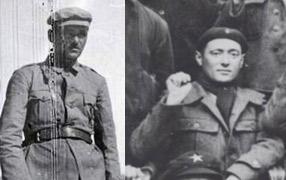 Figura 13. Domenico Tomat, Comandante del 1er Batallón de la XII B.I. y Emilio Suardi, Comisario del 4º Batallón. Fondo AICVAS (Associazione Italiana Combattenti Volontari Antifascisti di Spagna).