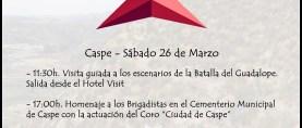 Sábado 26 de Marzo – Homenaje a los Brigadistas Internacionales de la Cota 238 (Caspe, Zaragoza)