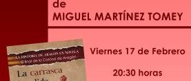 Presentación del libro «La carrasca hendida», de Miguel Martínez Tomey