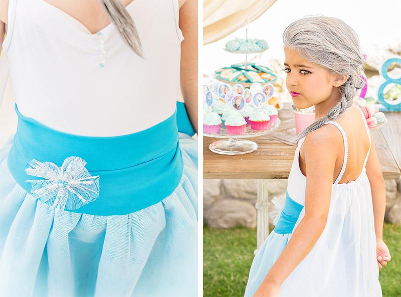vestido de frozen hecho a mano