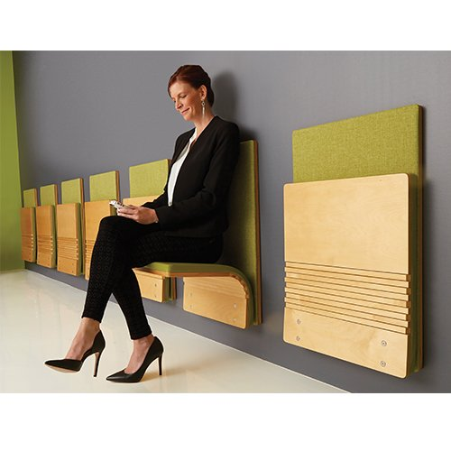 Sedia JumpSeat Wall Mount Space Saving Folds To 4
