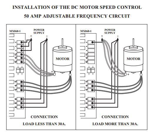 Heavy Duty PWM DC Motor Speed Controller, 50 Amp
