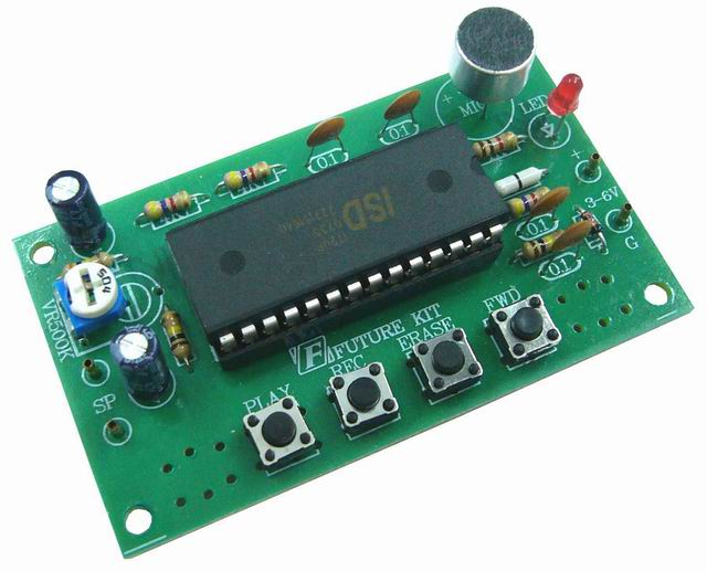 Voice Recorder Circuit 60 120 Seconds Electronics Projects Circuits