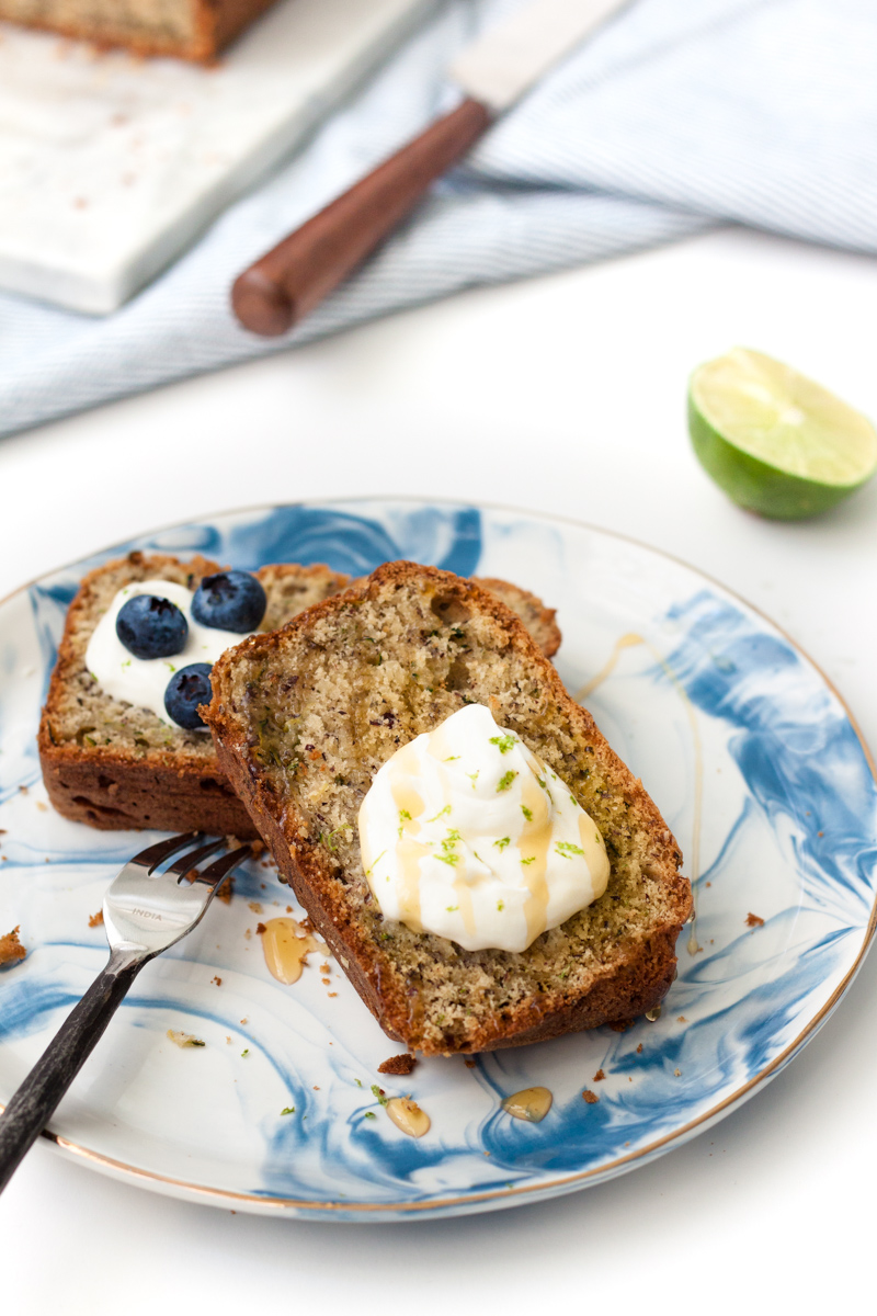 Zucchini bread with sour cream