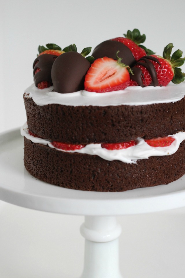 Naked Chocolate Cake For Valentines Day - B A K E A H O L -6864