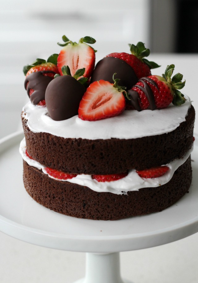 Chocolate Cake With Strawberries Pictures