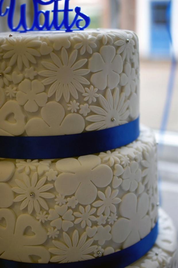 Royal Blue Wedding Garter