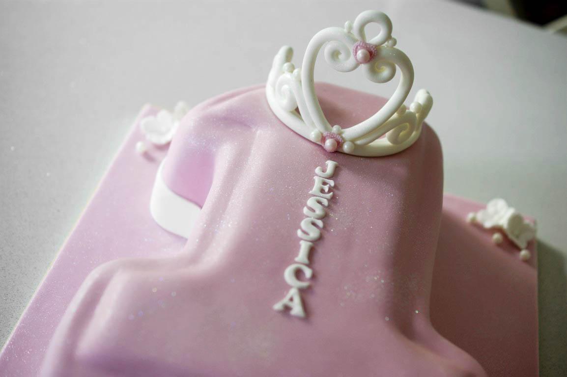 1st Birthday Princess Number 1 Cake Bakealous