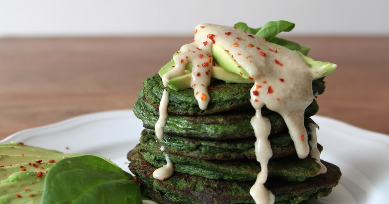 Breakfast lovers unite … savory spinach pancakes