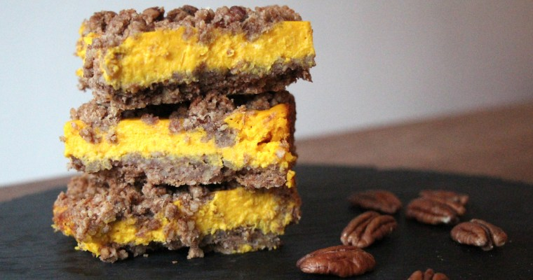 Pumpkin cheesecake bars … it's officially pumpkin season