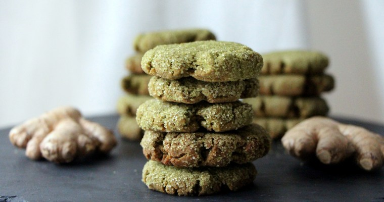A word about superfoods … matcha gingerbread cookies
