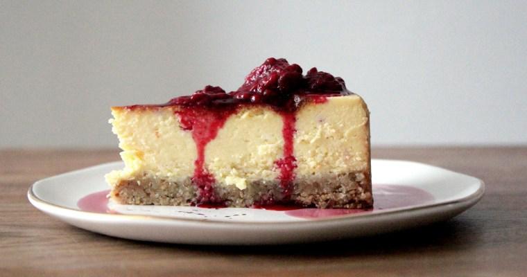 White chocolate raspberry cheesecake … a tribute to NYC