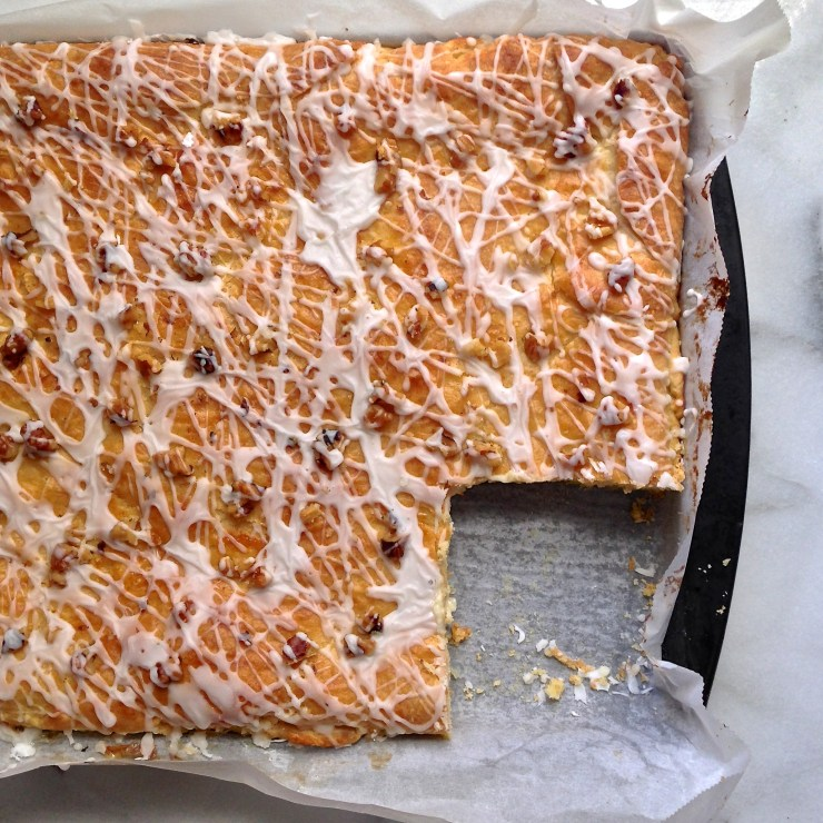 pineapple cream cheese yeast coffeecake