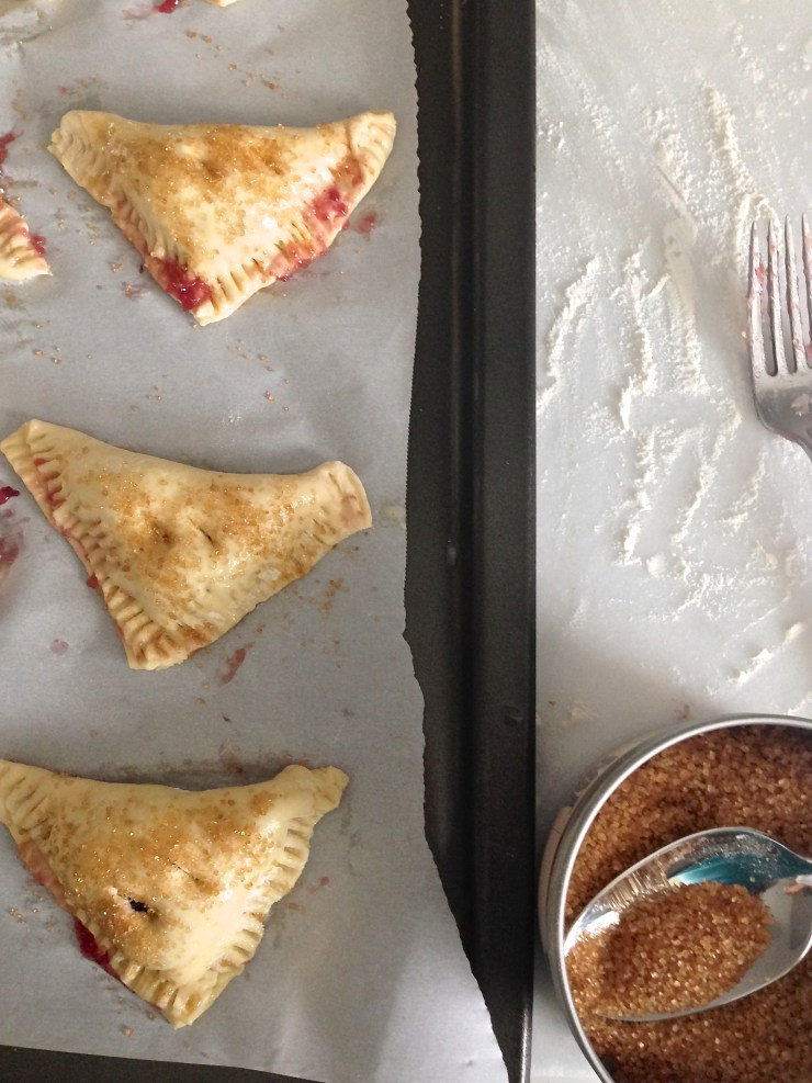 cherry turnovers - shaped