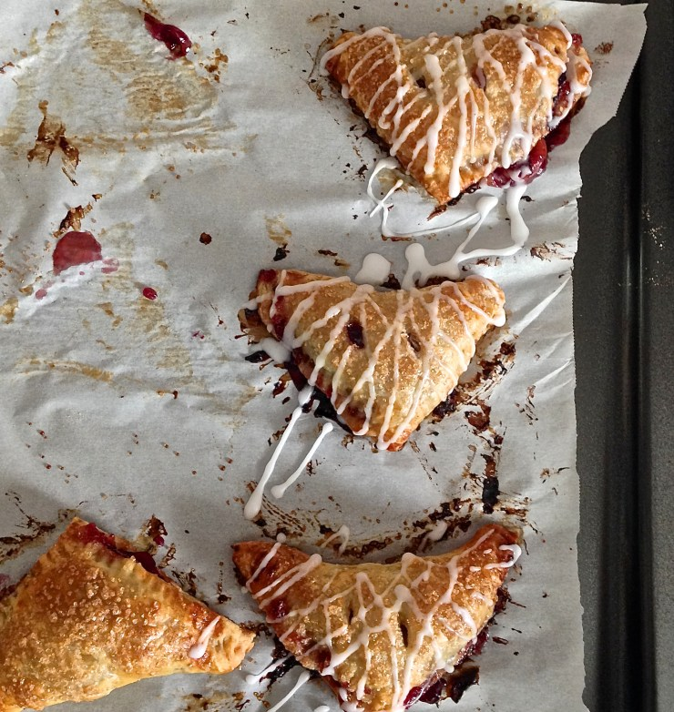 cherry turnovers - baked