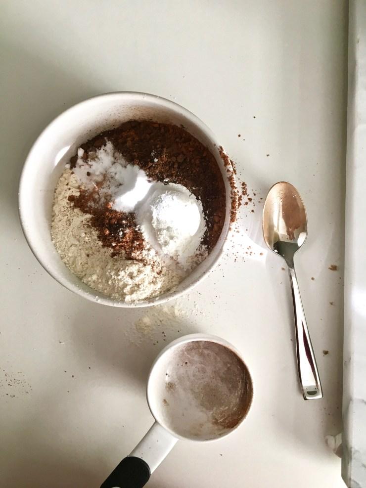 making brownie batter cookies