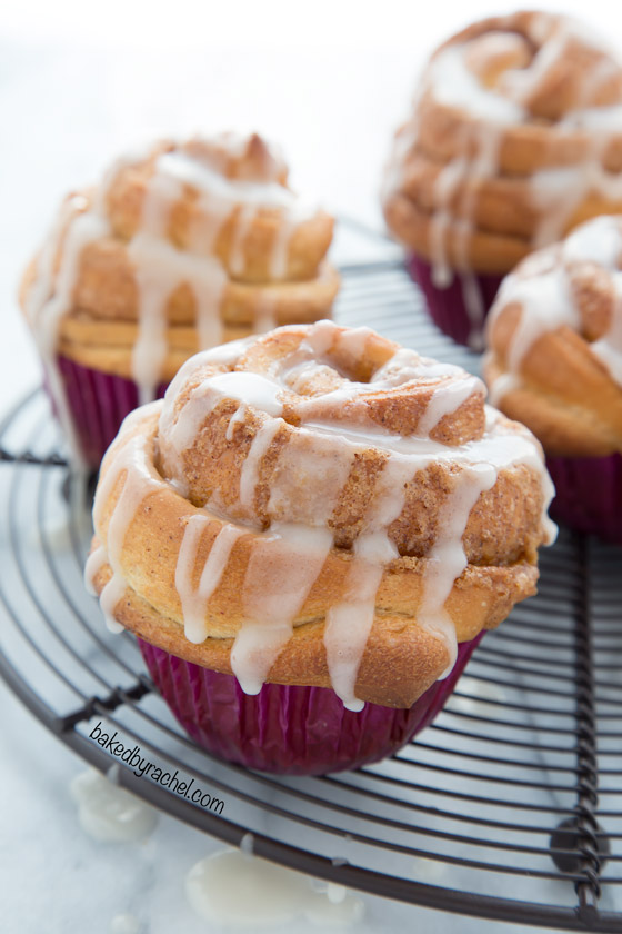 Baked By Rachel Cinnamon Roll Muffins With Vanilla Glaze