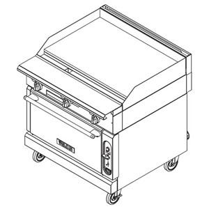 Vulcan VGM36 Heavy Duty Gas Range, 36 Manual Griddle