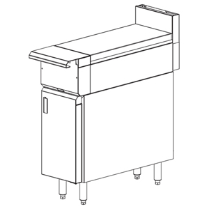 Vulcan Heavy Duty Gas Range Spreader, Cabinet Base