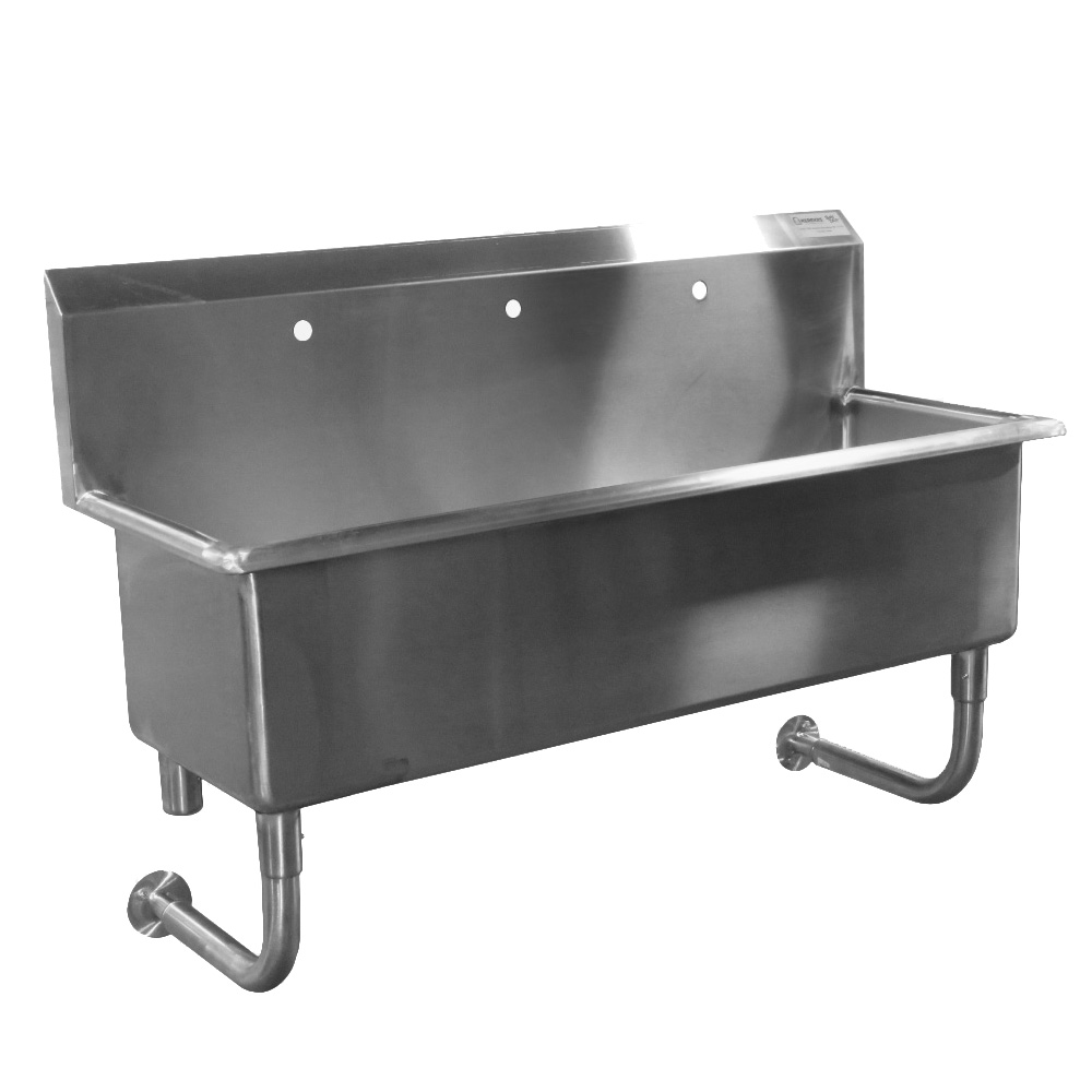 custom made commercial wall hung hand sink stainless steel 7 feet wide