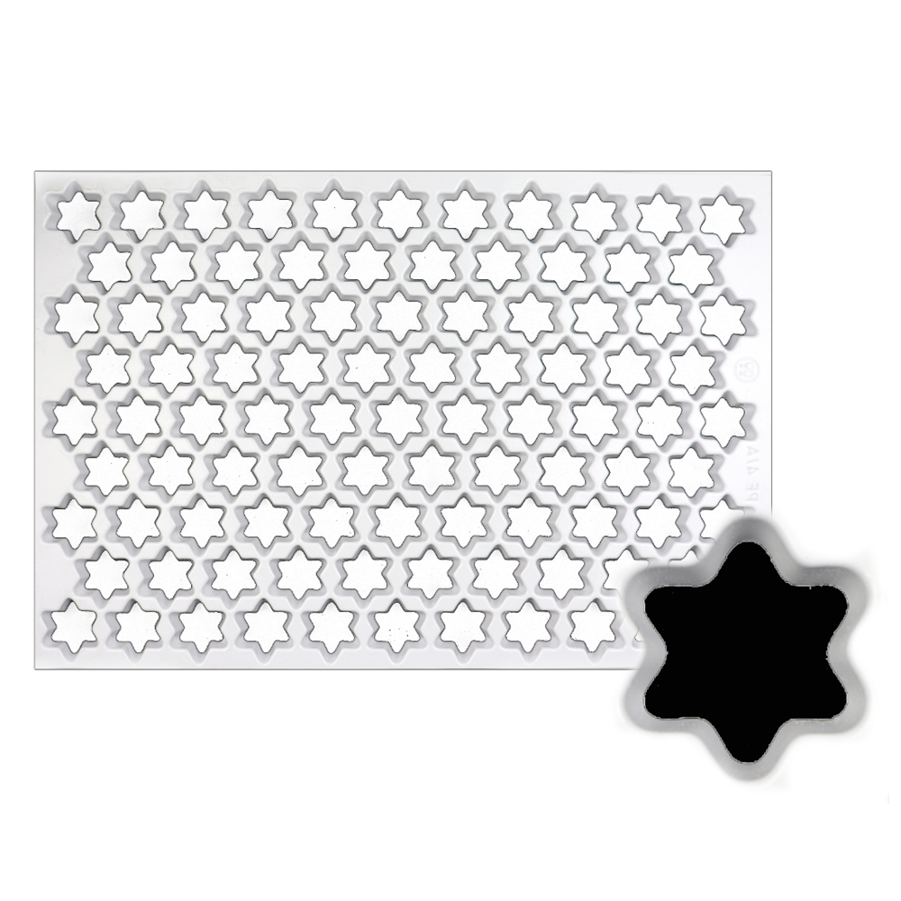 Production Cookie Cutting Sheet, Star 1-3/8 Production