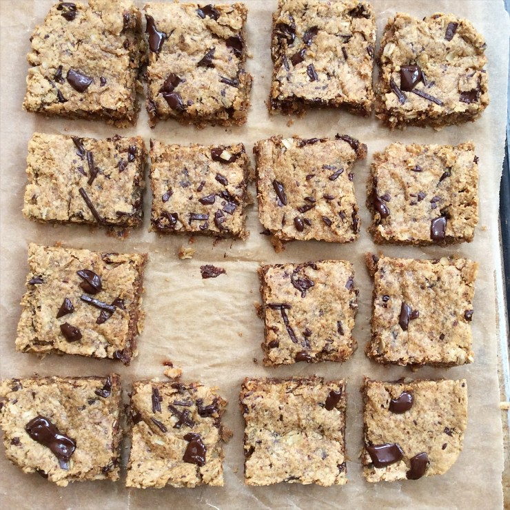 Peanut Butter Oatmeal Chocolate Chip Cookie Bars