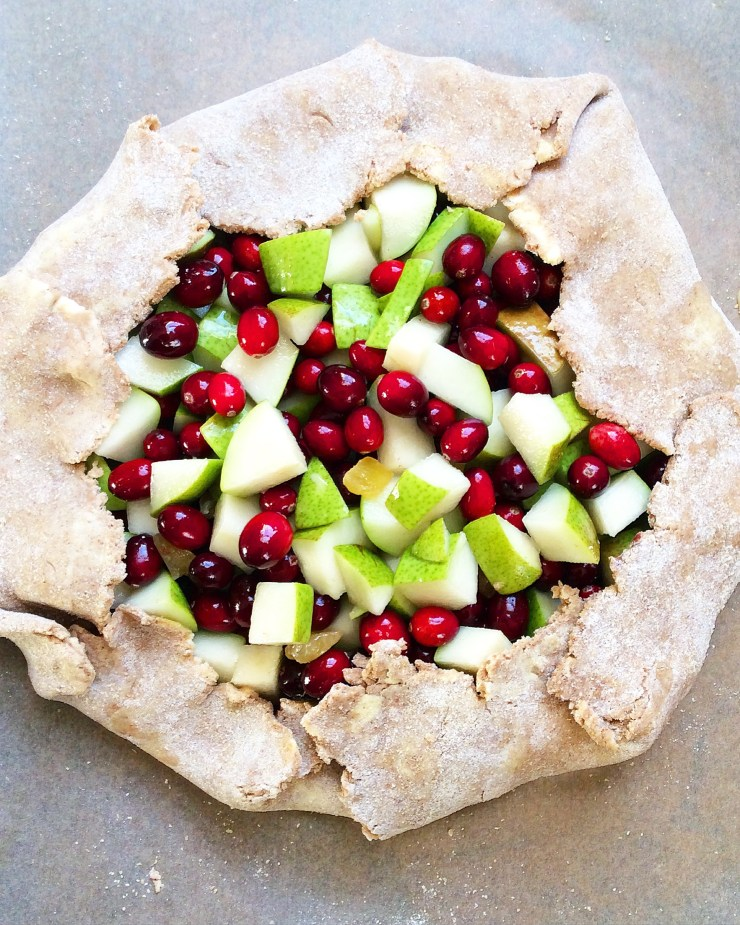 Cranberry-Pear Tart with Cinnamon Whole Wheat Crust