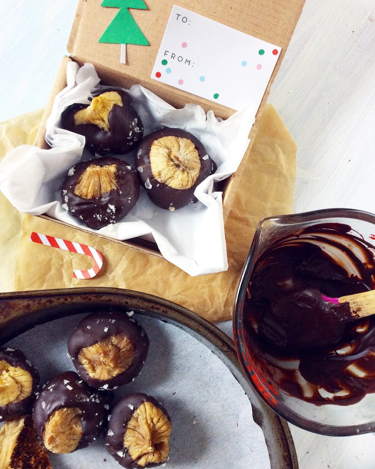Salted Chocolate Covered Figs
