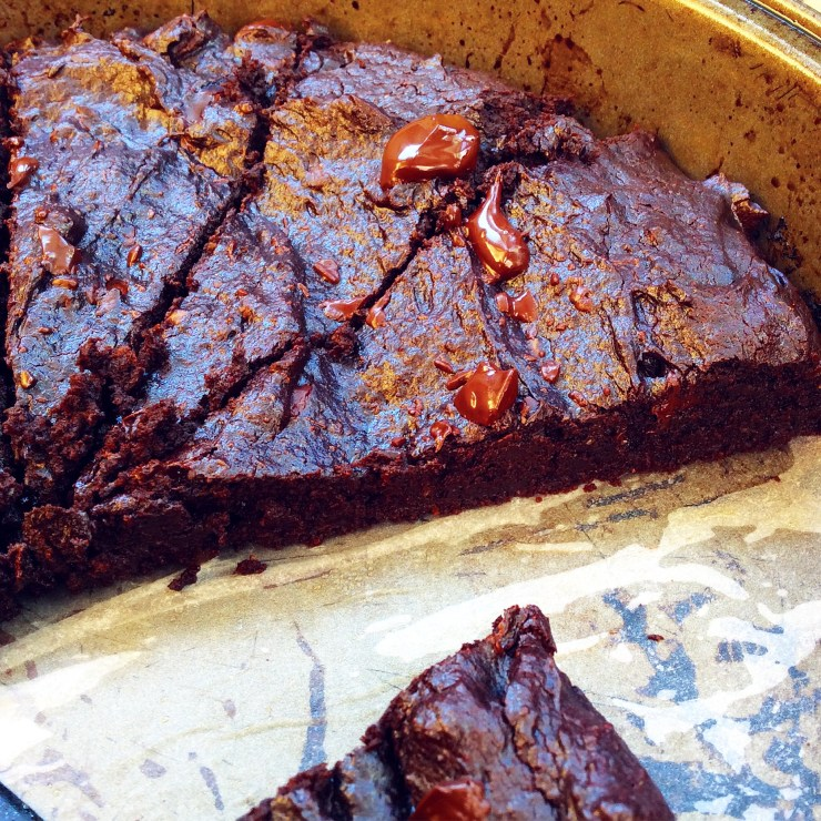 Fudgy Dark Chocolate Avocado Brownies