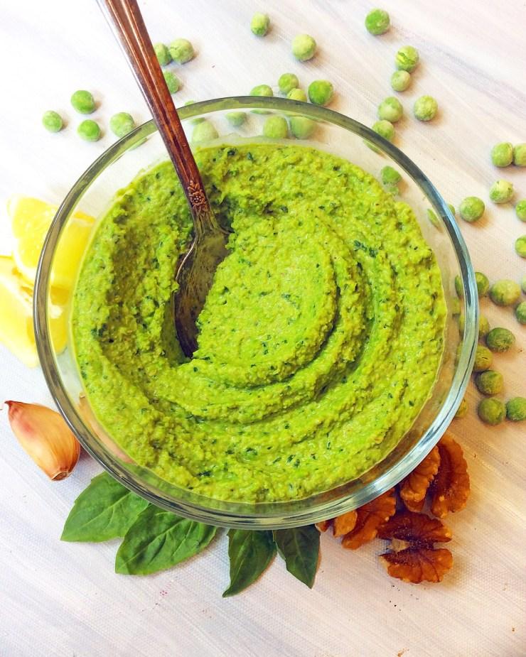 Thick & Creamy Basil-Pea Pesto