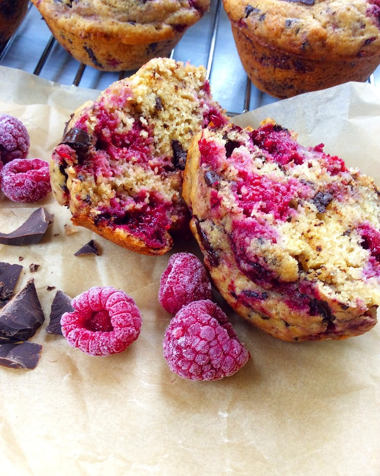 Raspberry Chocolate Chunk Muffins