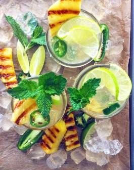 Grilled Pineapple & Jalapeno Mojitos