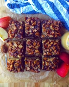 Peanut Butter Apple Snack Cake