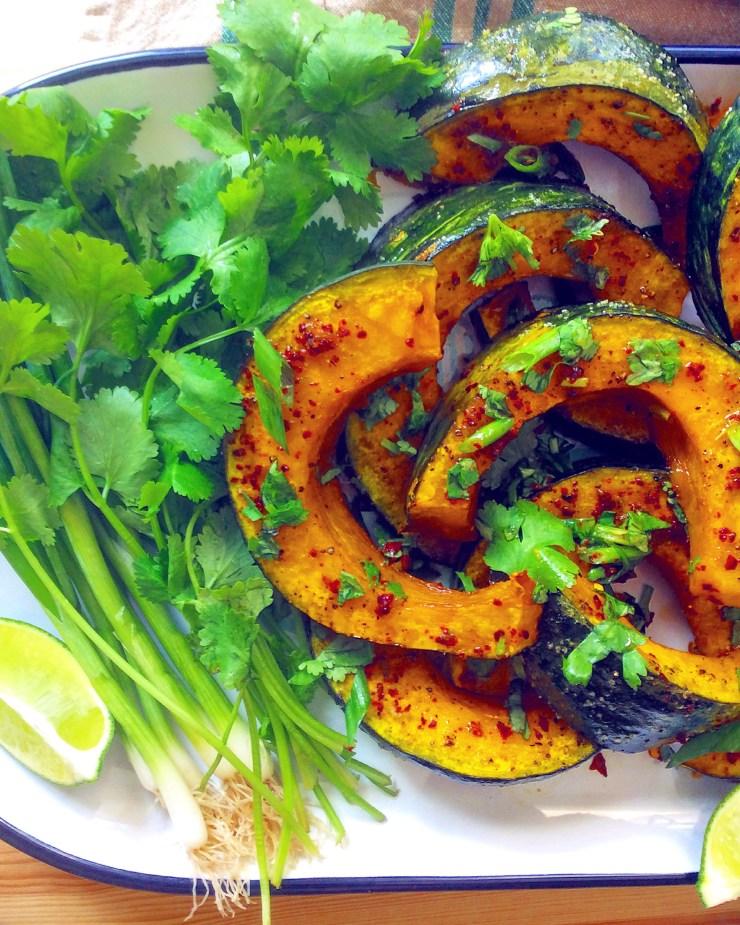 Roasted Kabocha Squash with Chili, Lime, & Honey