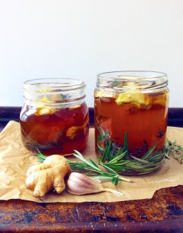 Ginger, Garlic + Herb Infused Raw Honey