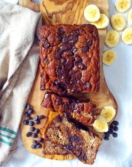 Chocolate Chip Coconut Flour Banana Bread