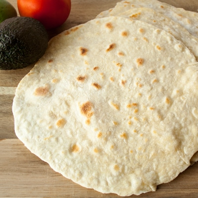So easy and delicious! These homemade flour tortillas are a real treat for taco night!
