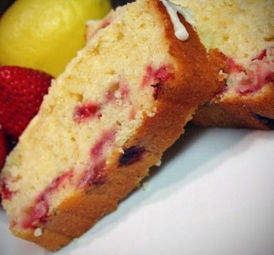 Lemon Strawberry Bread with Lemon Zest Icing Recipe