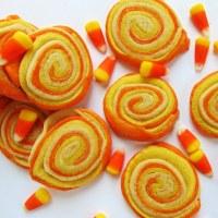 Candy Corn Sugar Cookie Pinwheels