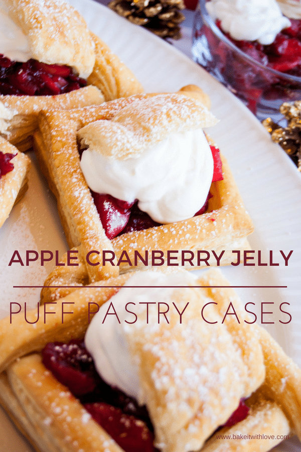 Apple Cranberry Jelly Puff Pastry Cases at Bake It With Love, www.bakeitwithlove.com