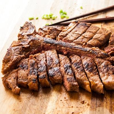 Red Miso Porterhouse Steak,, www.bakeitwithlove.com