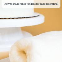 Homemade Fondant (without marshmallows)