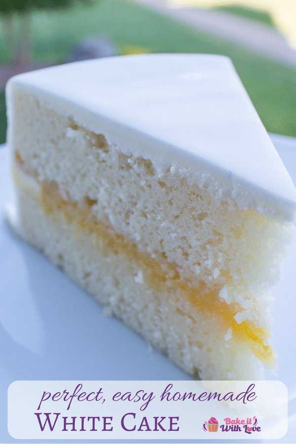 Super easy Homemade White Cake, loaded with vanilla flavor and so super soft!